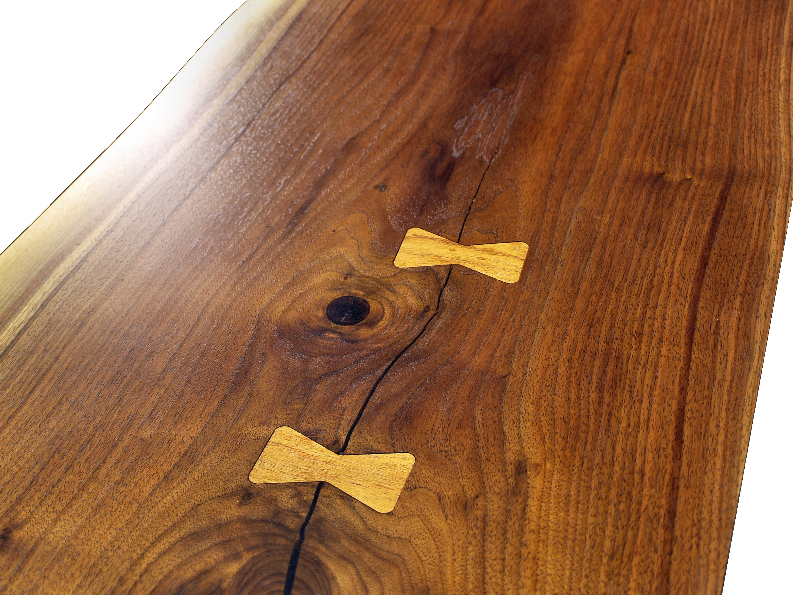 Charming Pecan Butterfly Inlays In Texas Walnut Table Top.