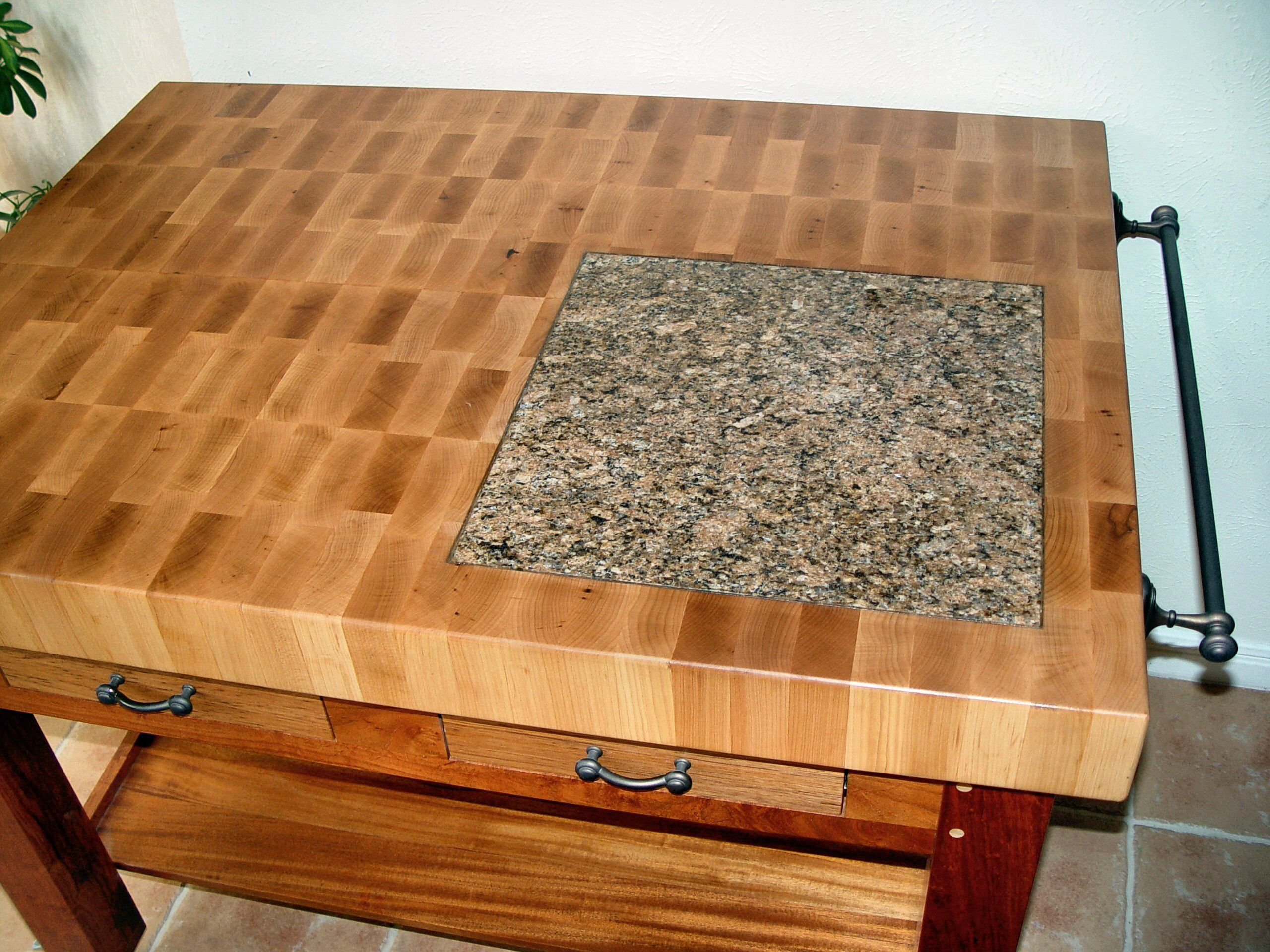 Custom wood countertop options marble granite and wood for Granite countertop width