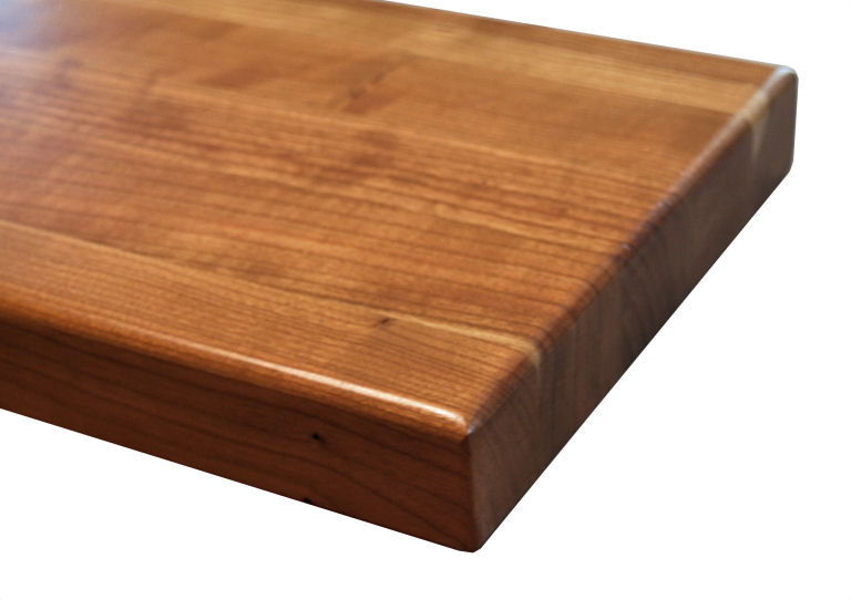 Countertop Edge Materials : ... Roundover Edge Profile for wood countertops shown on edge grain Cherry