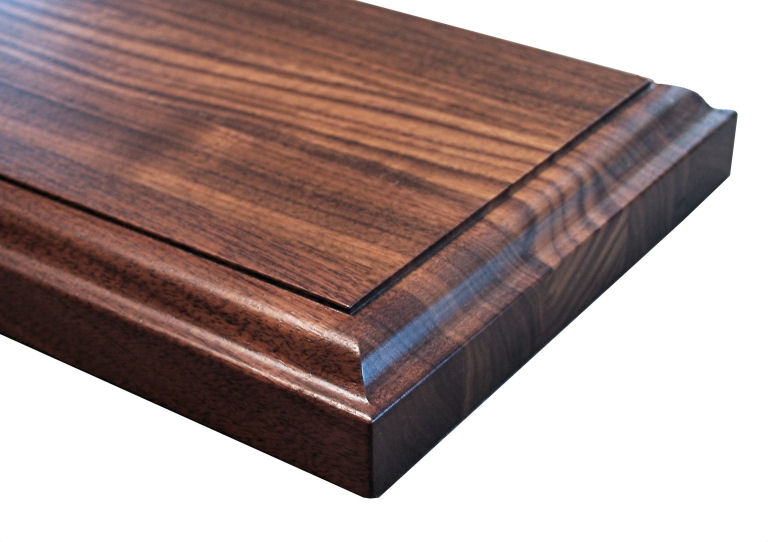... Fillet Edge Profile for wood countertops shown on edge grain Walnut