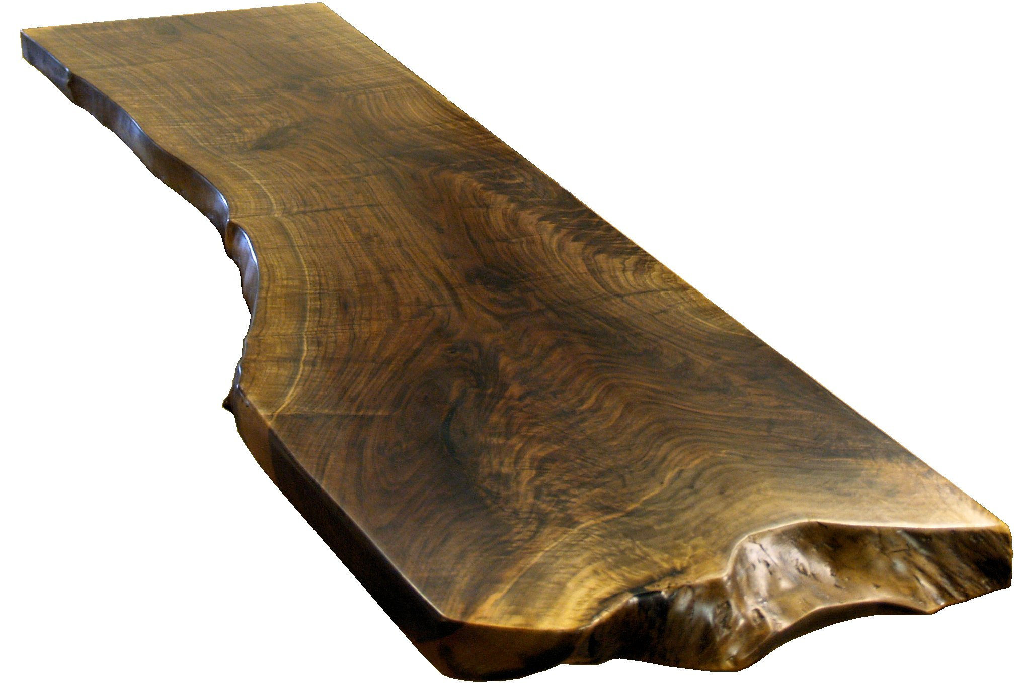 Natural edges wane edges on custom wood countertops and for Wood slab bar top