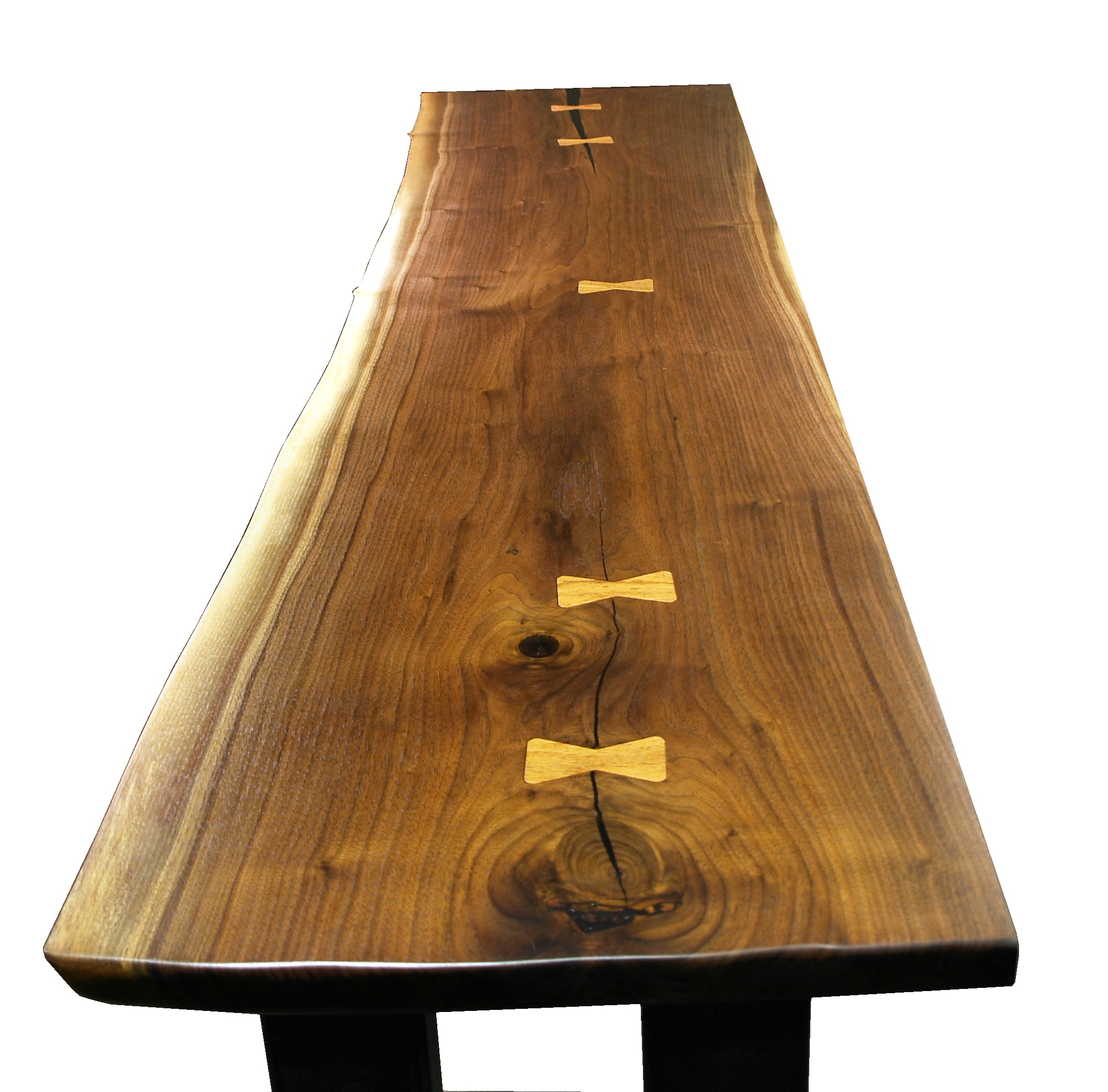 Charmant Custom Walnut Slab Table Top With Maple Butterfly Inlays. Natural Edges And  Waterlox Satin Finish