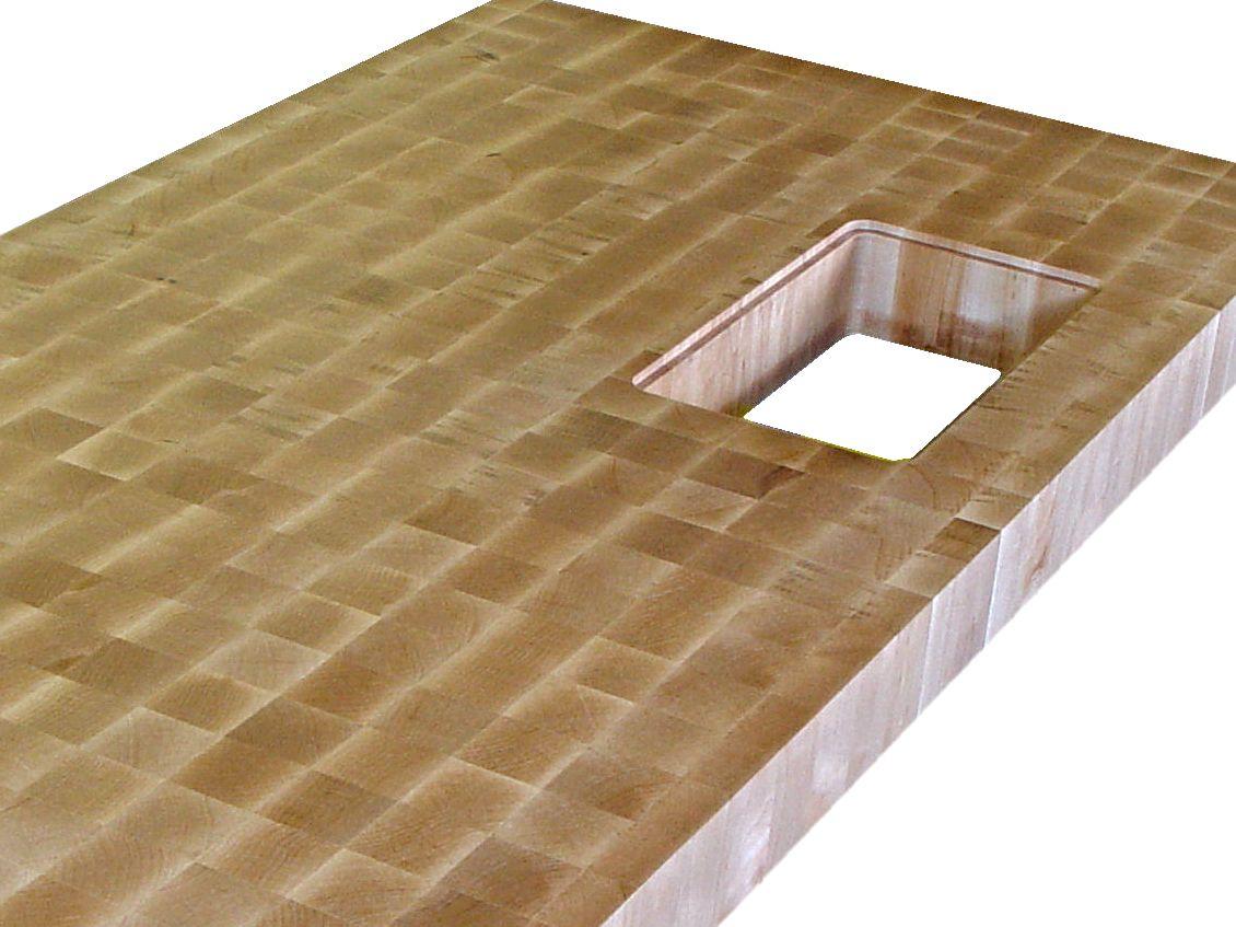 Custom Wood Countertop Options Trash Holes