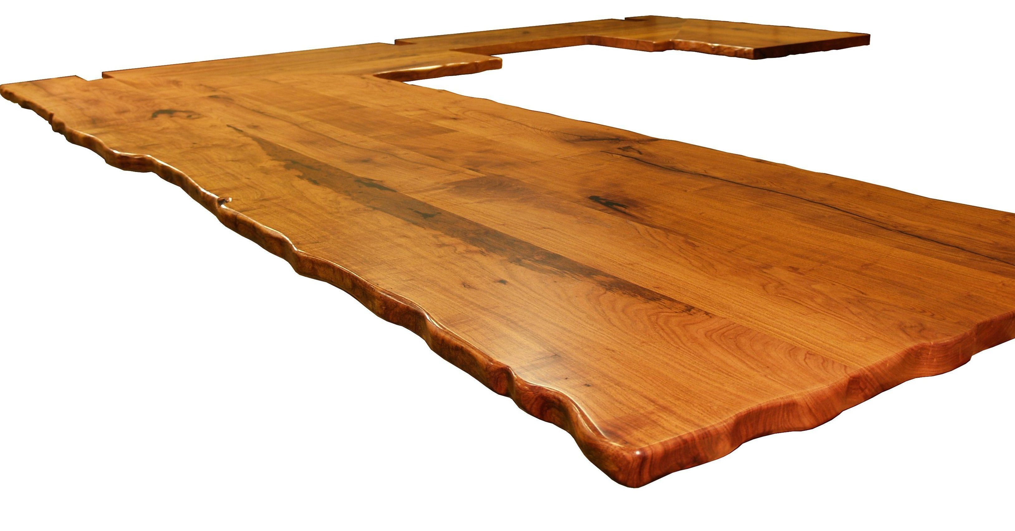 on top table designing slab natural oil tops wane tung custom a wood with citrus edges pecan and countertops finish