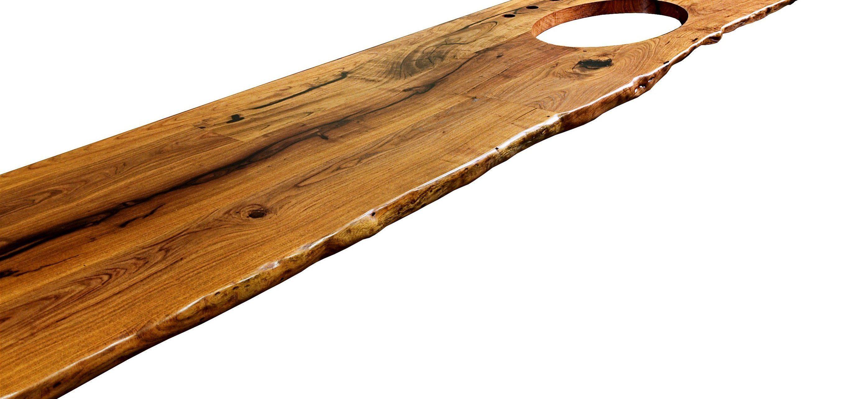 Natural Edges Wane Edges On Custom Wood Countertops And