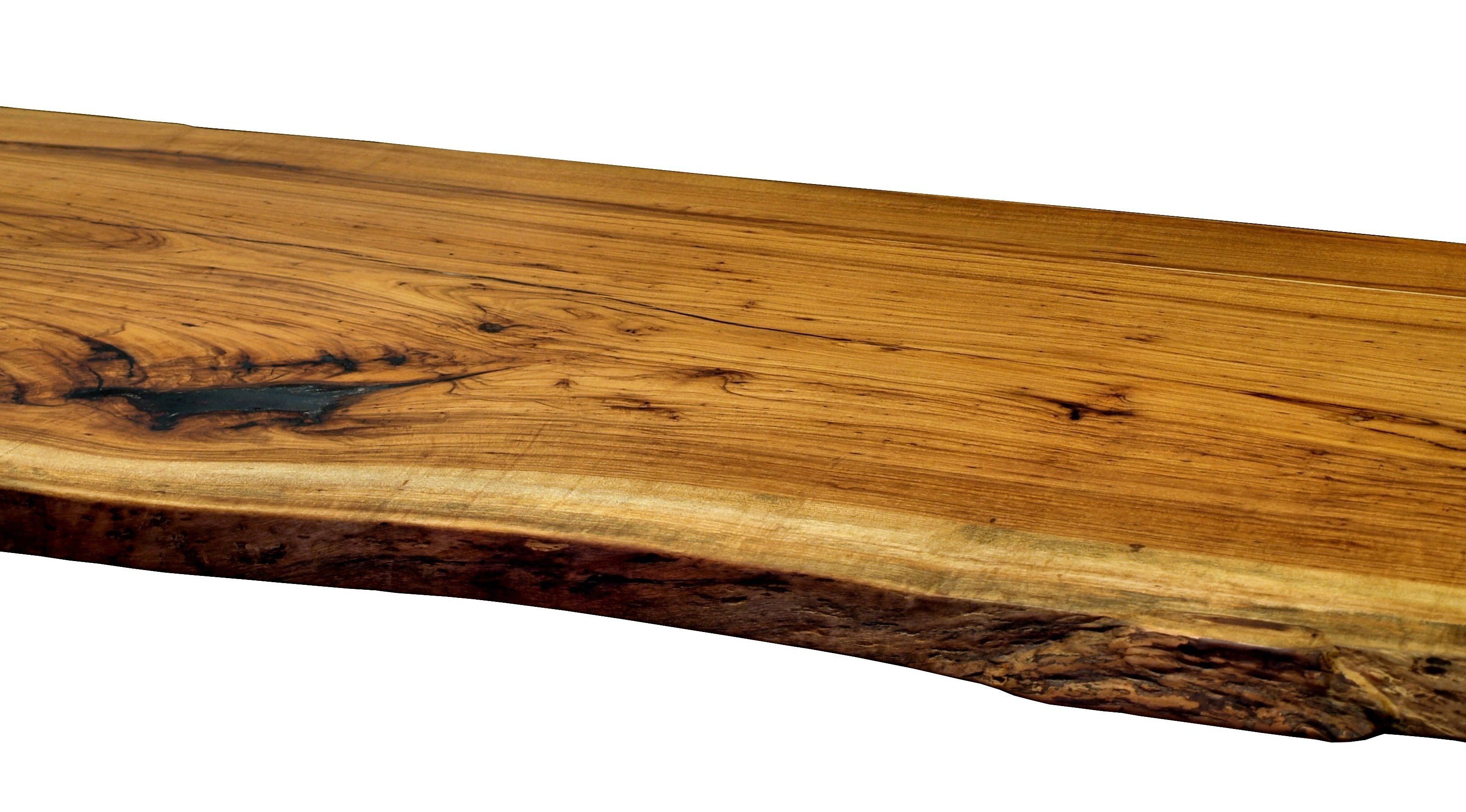 Pecan Slab Table Top With Natural Edges And A Tung Oil/Citrus Finish.