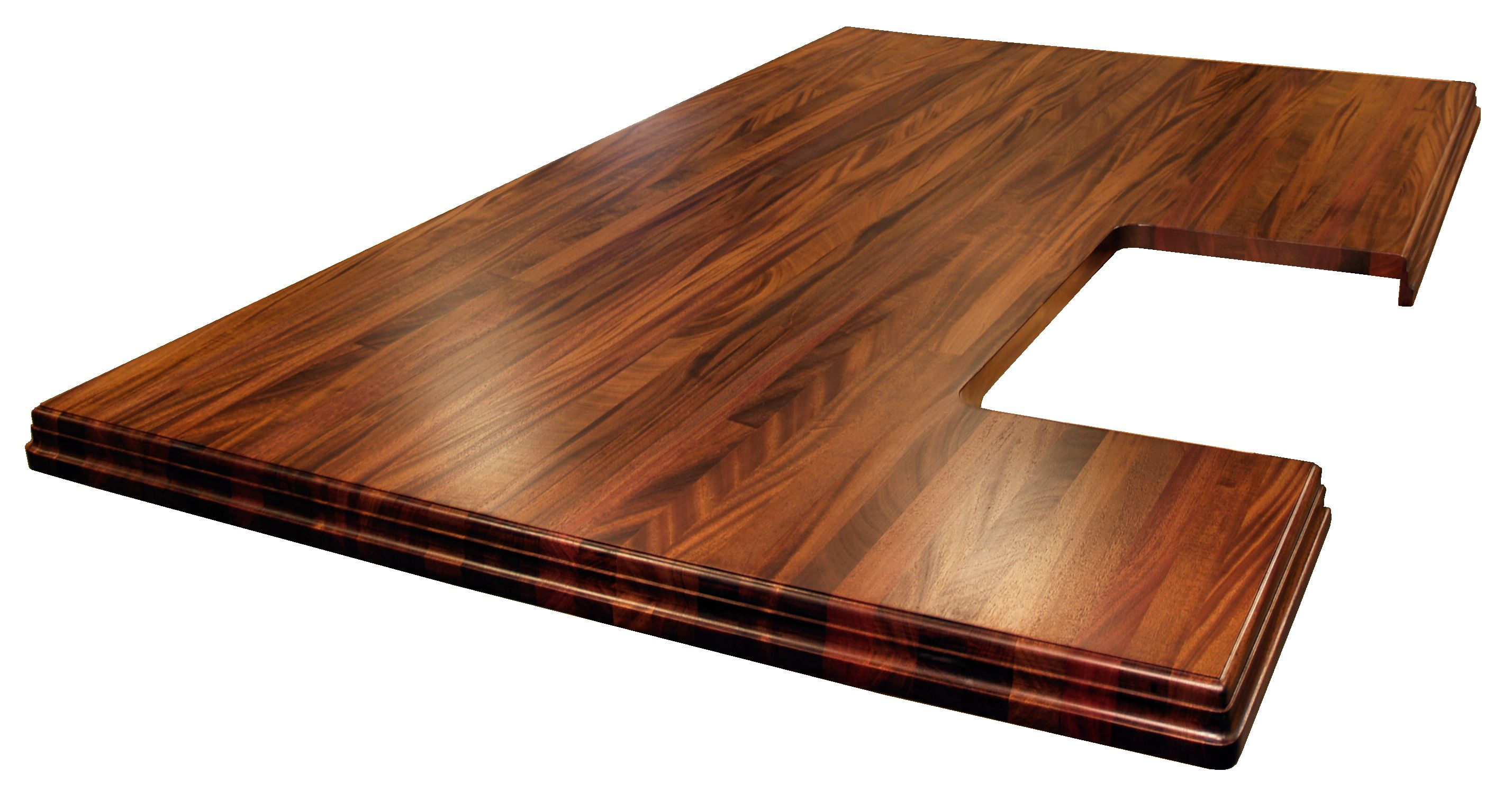 Beautiful ... African Mahogany Island Top With Walnut Stain. Edge Grain Construction  With Book Matched Drop