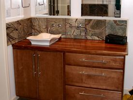 Photo Gallery of African Mahogany Wood countertops