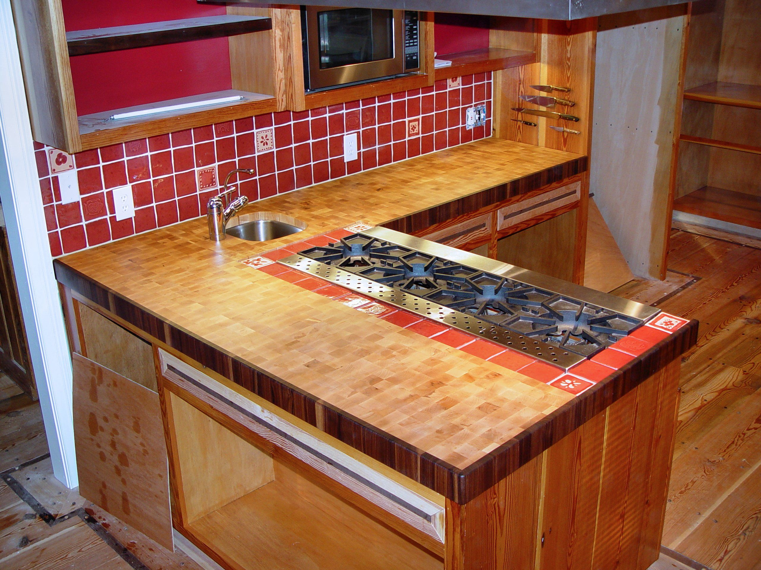 Hard maple photos custom wood countertops butcher block for Maple slab countertop