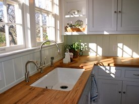 Photo Gallery of Reclaimed White Oak Wood countertops