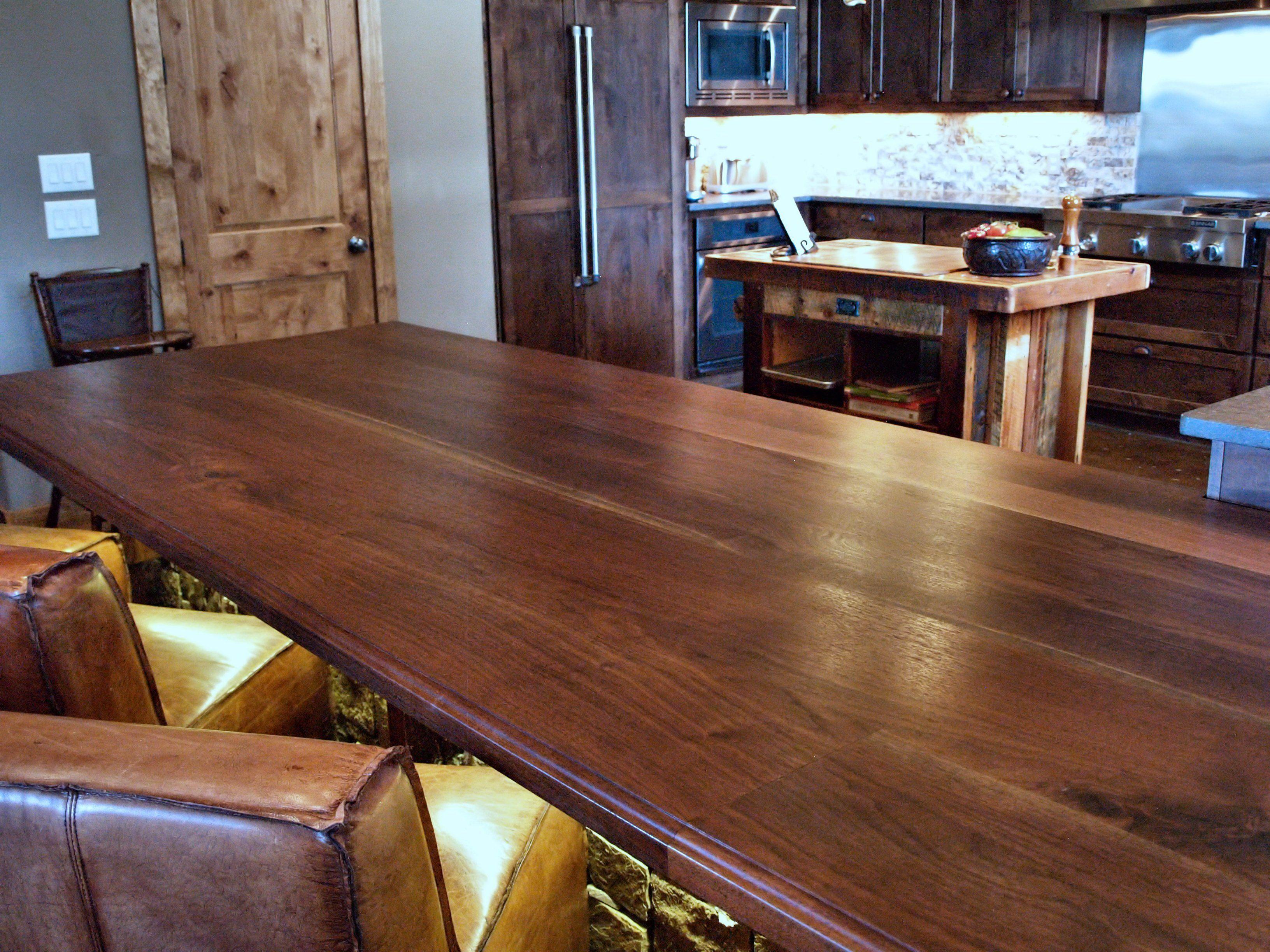 Devos custom woodworking tx walnut wood countertop photo for Wood slab countertops
