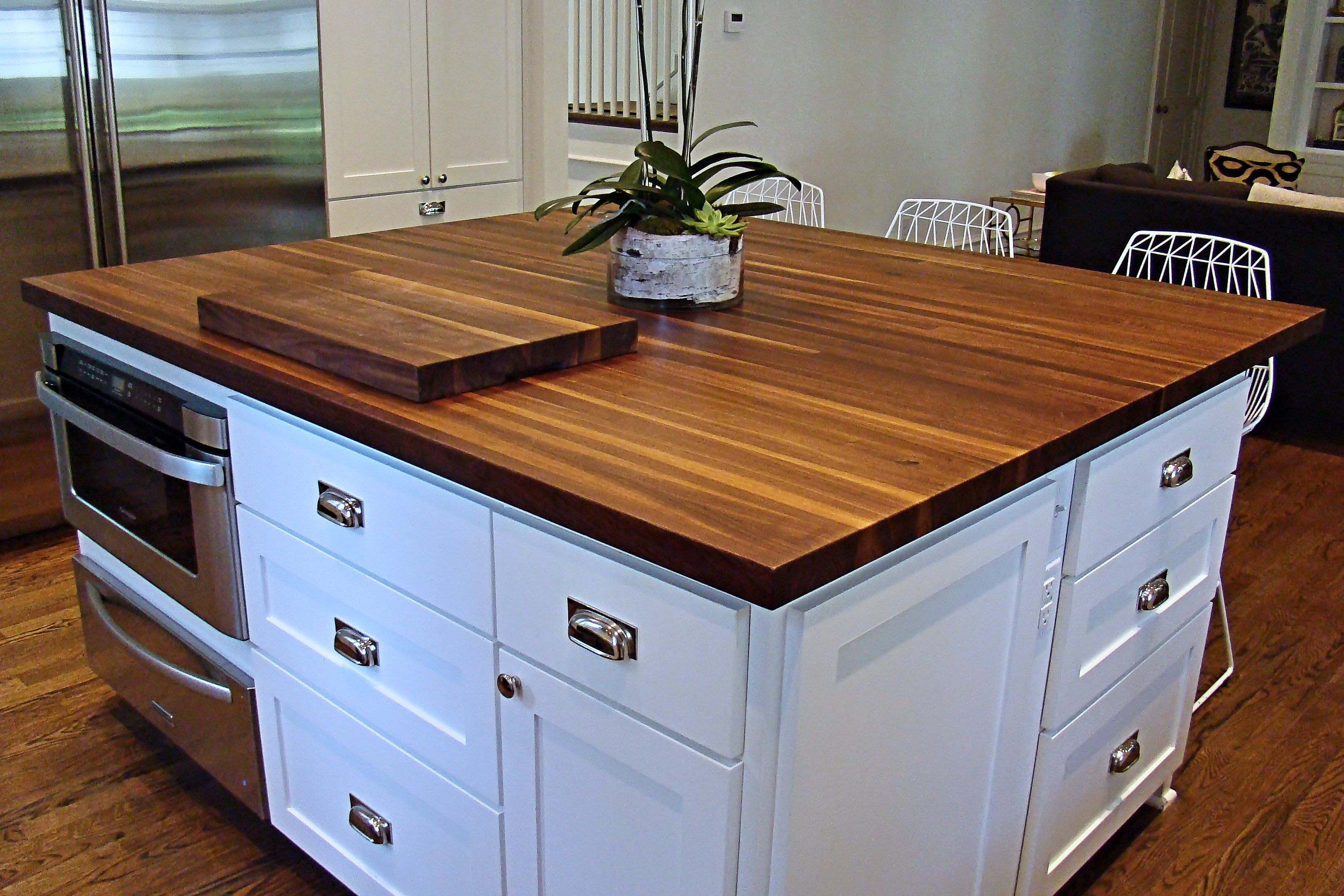 Walnut Edge Grain Wood Island Top