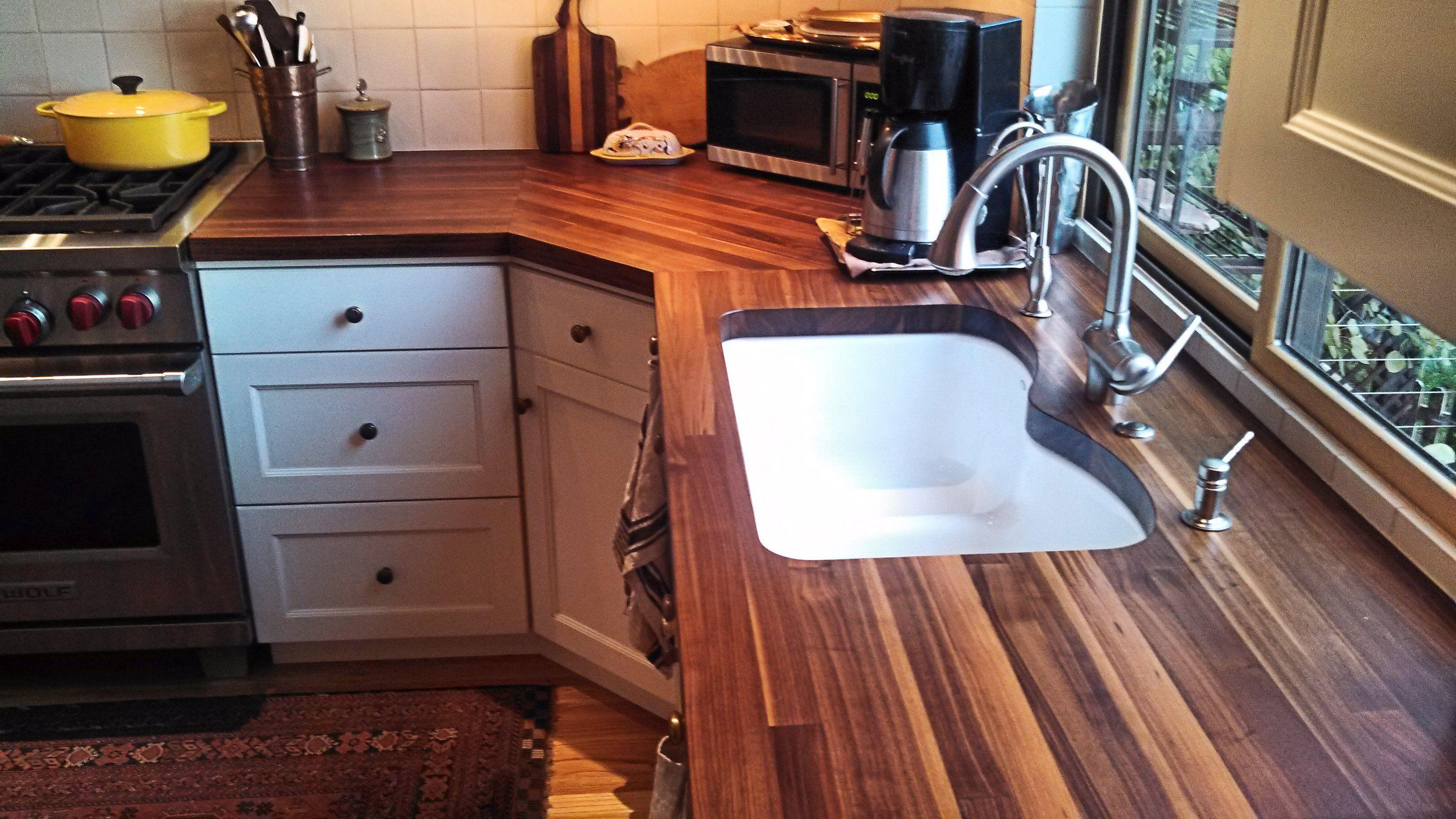How To Install Butcher Block Countertops Walnut Edge Grain Wood Countertop