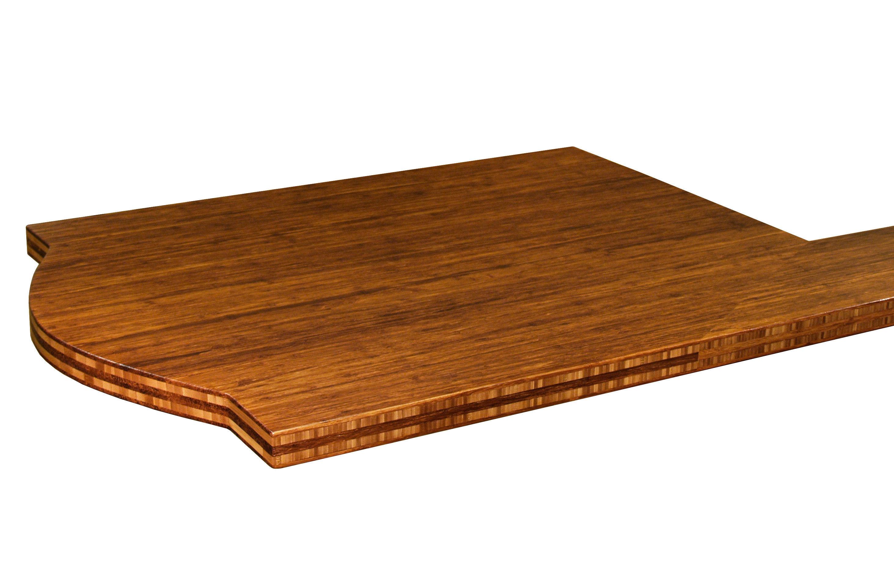 Bamboo Face Grain Custom Wood Island Countertop.
