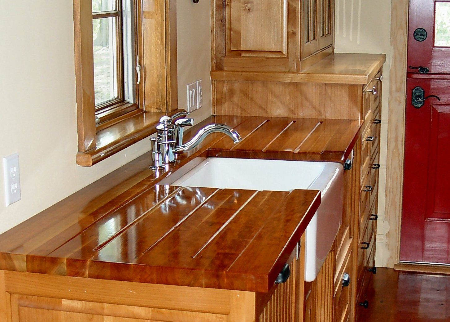 Cherry Wood Countertop Photo Gallery By Devos Custom