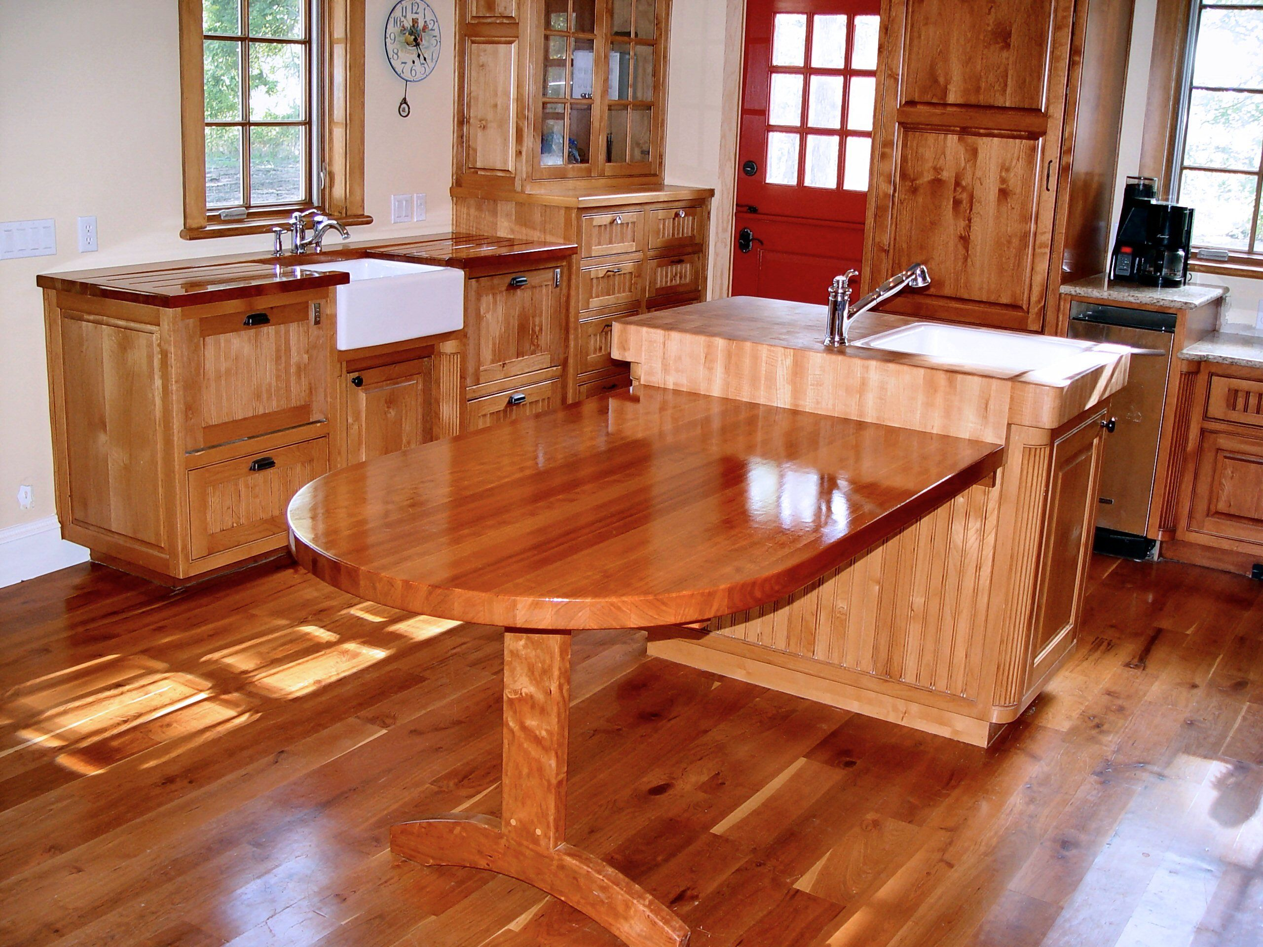 Cherry edge grain custom wood table top. Cherry Wood Countertop Photo Gallery  by DeVos Custom Woodworking