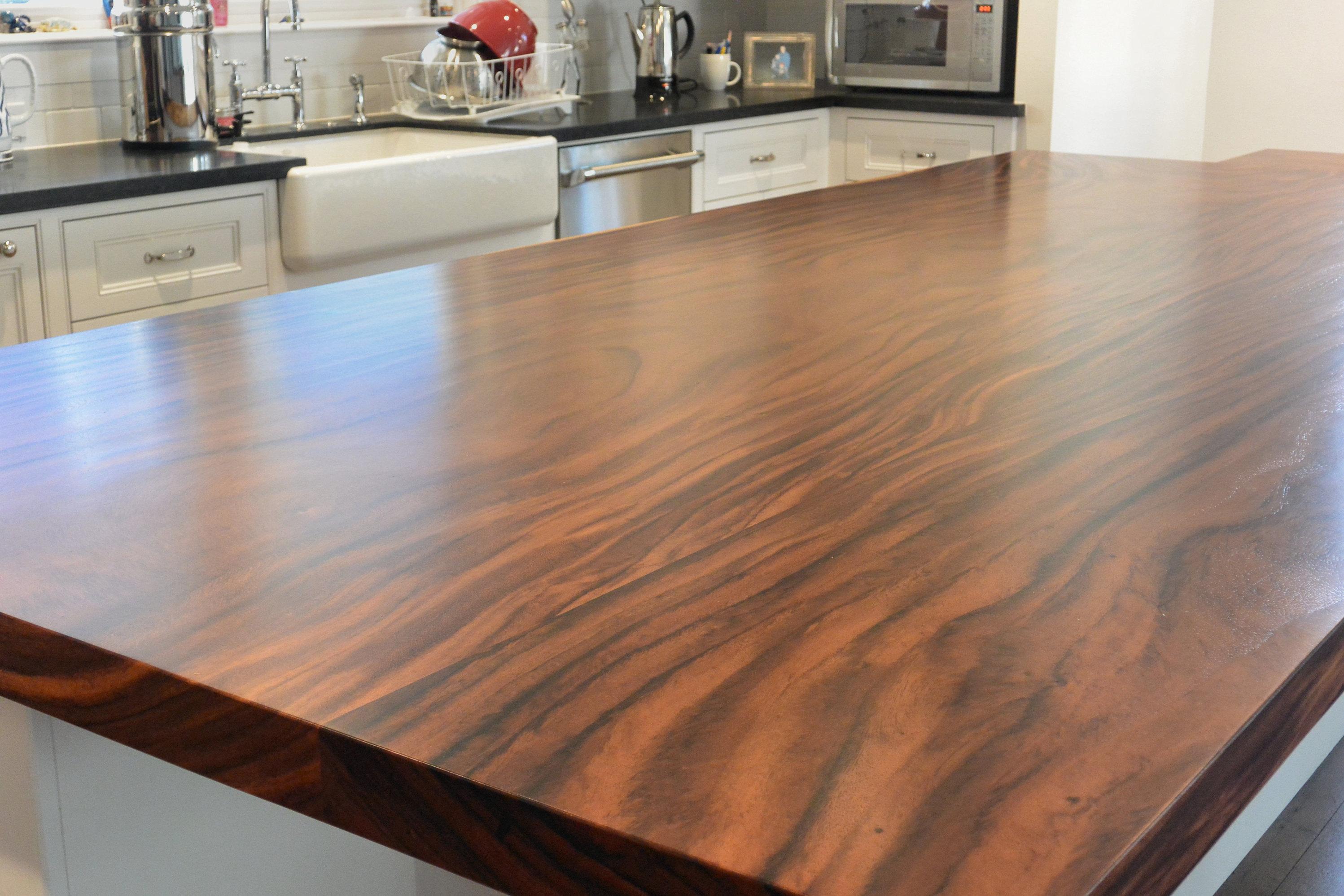 Guanacaste parota live edge wood slab countertop photo for Live edge wood countertops