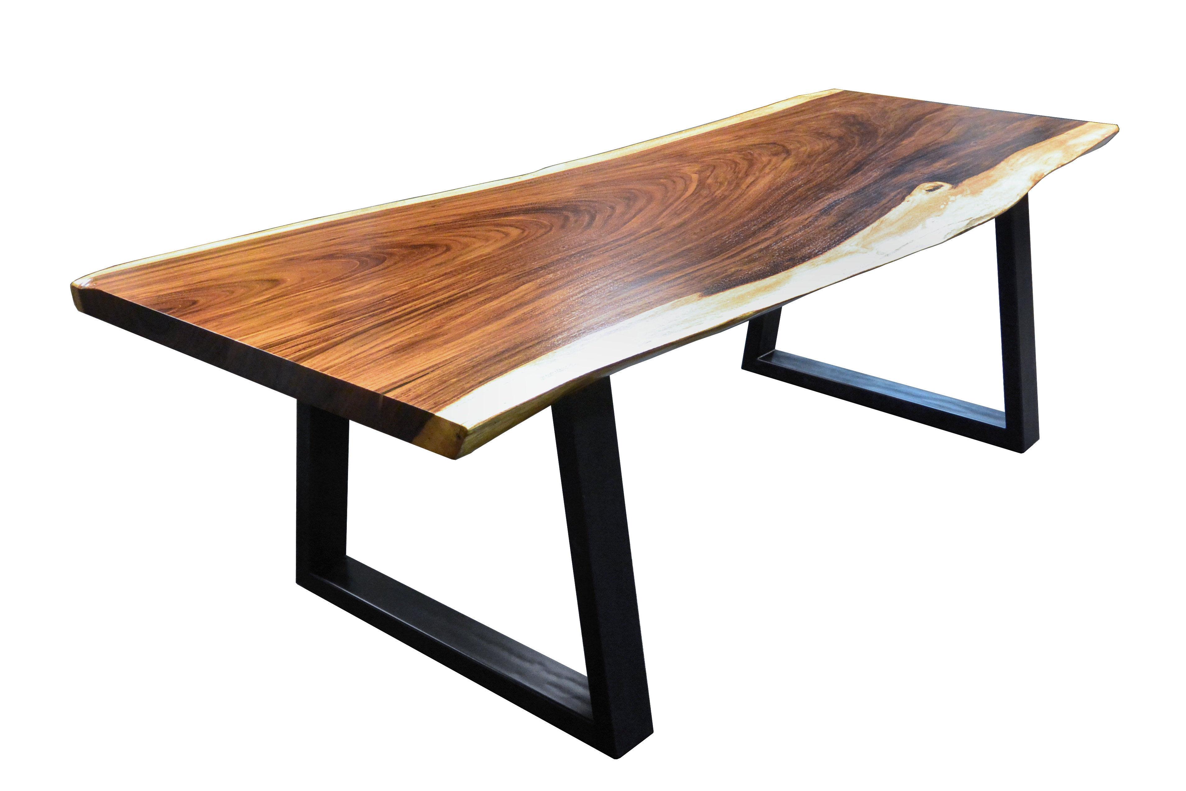 Guanacaste parota live edge wood slab countertop photo