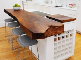 Photo Gallery of Guanacaste (Perota) Wood Slab countertops