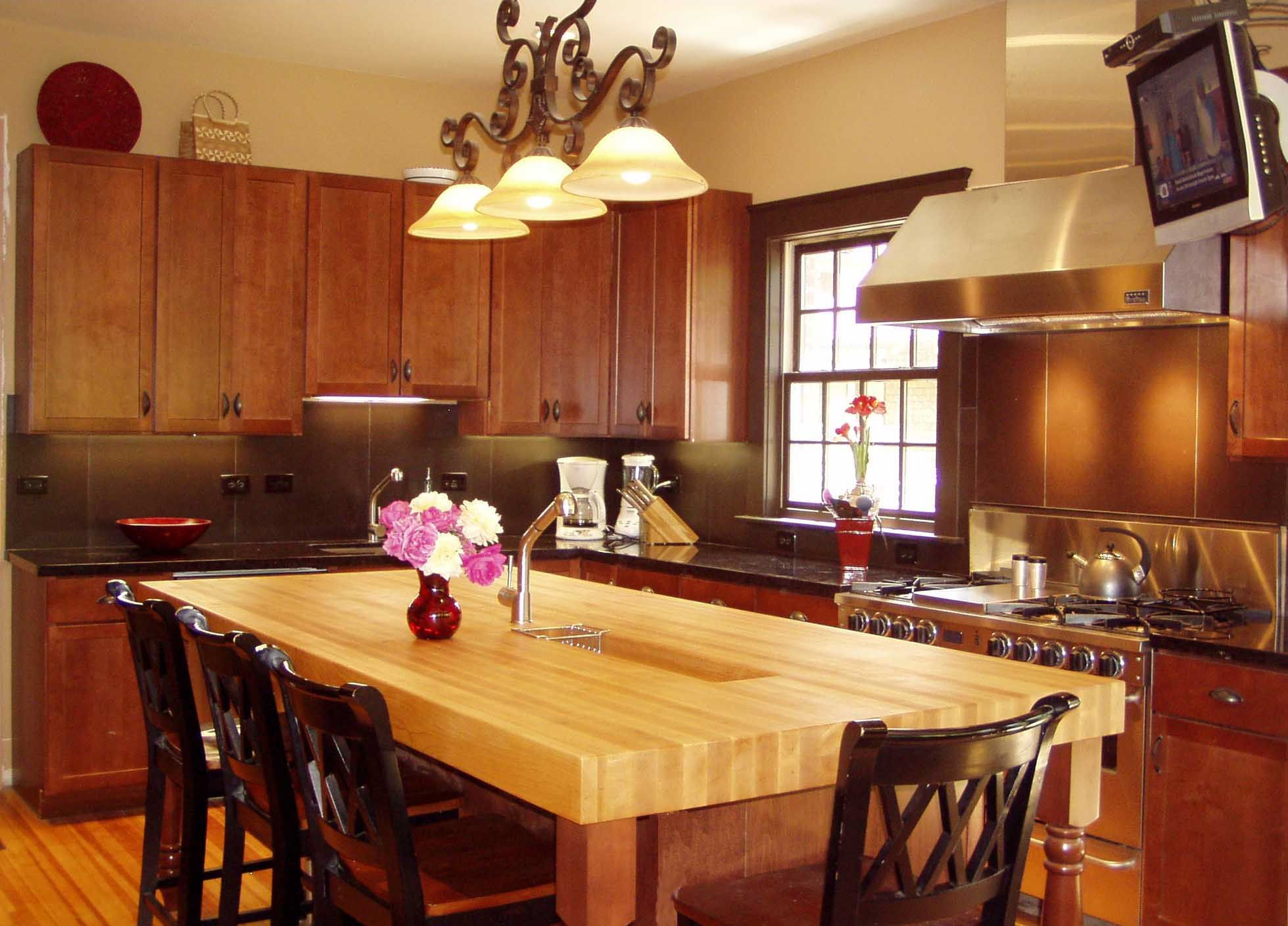 Custom wood countertops ongoing care and maintenance for Maple slab countertop