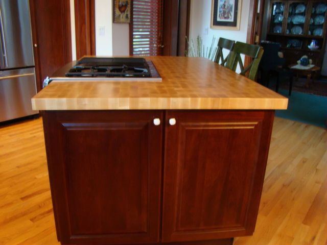 Hard Maple end grain custom wood butcherblock top. Hard Maple Wood Countertop Photo Gallery  by DeVos Custom Woodworking