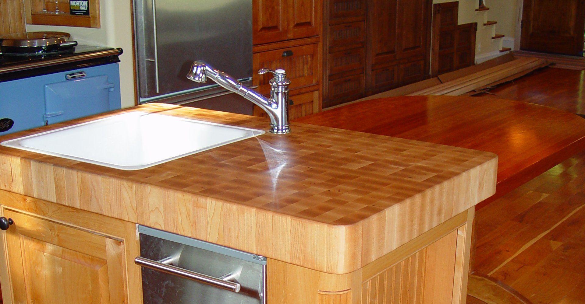 Hard Maple Wood Countertop Photo Gallery By Devos Custom Woodworking