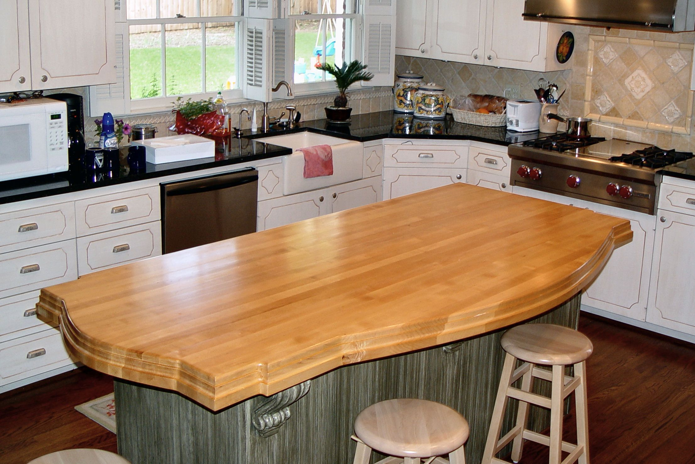 Hard maple wood countertop photo gallery by devos custom woodworking - Counter island designs ...