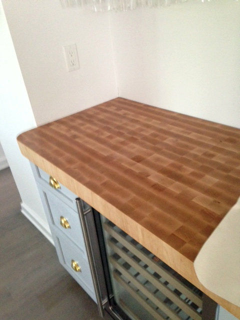 Hard Maple end grain butcherblock countertop with a Tung Oil finish. Hard Maple Wood Countertop Photo Gallery  by DeVos Custom Woodworking