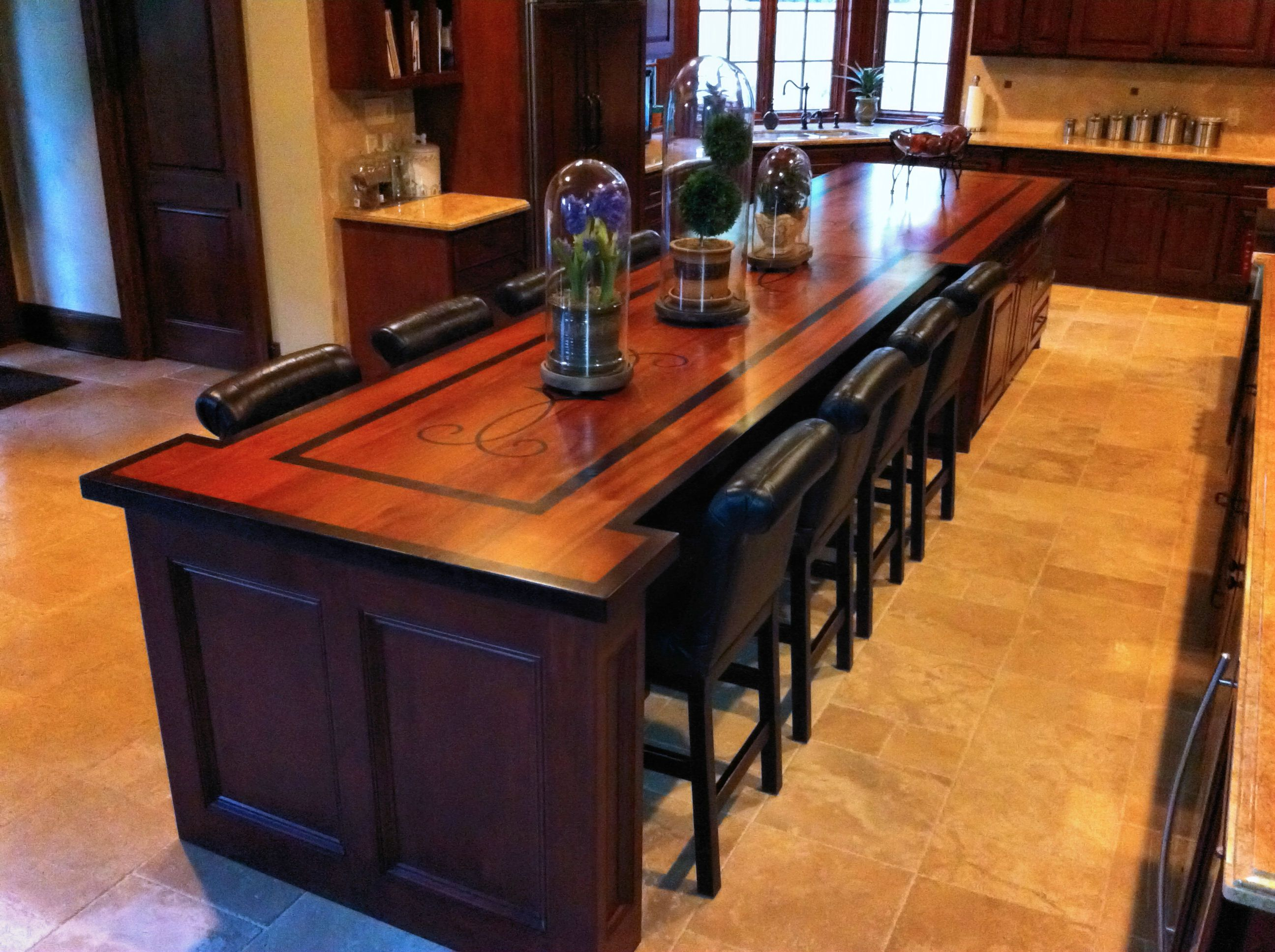 Kitchen Island Portable Custom Wood Countertop Options Inlays And Fills