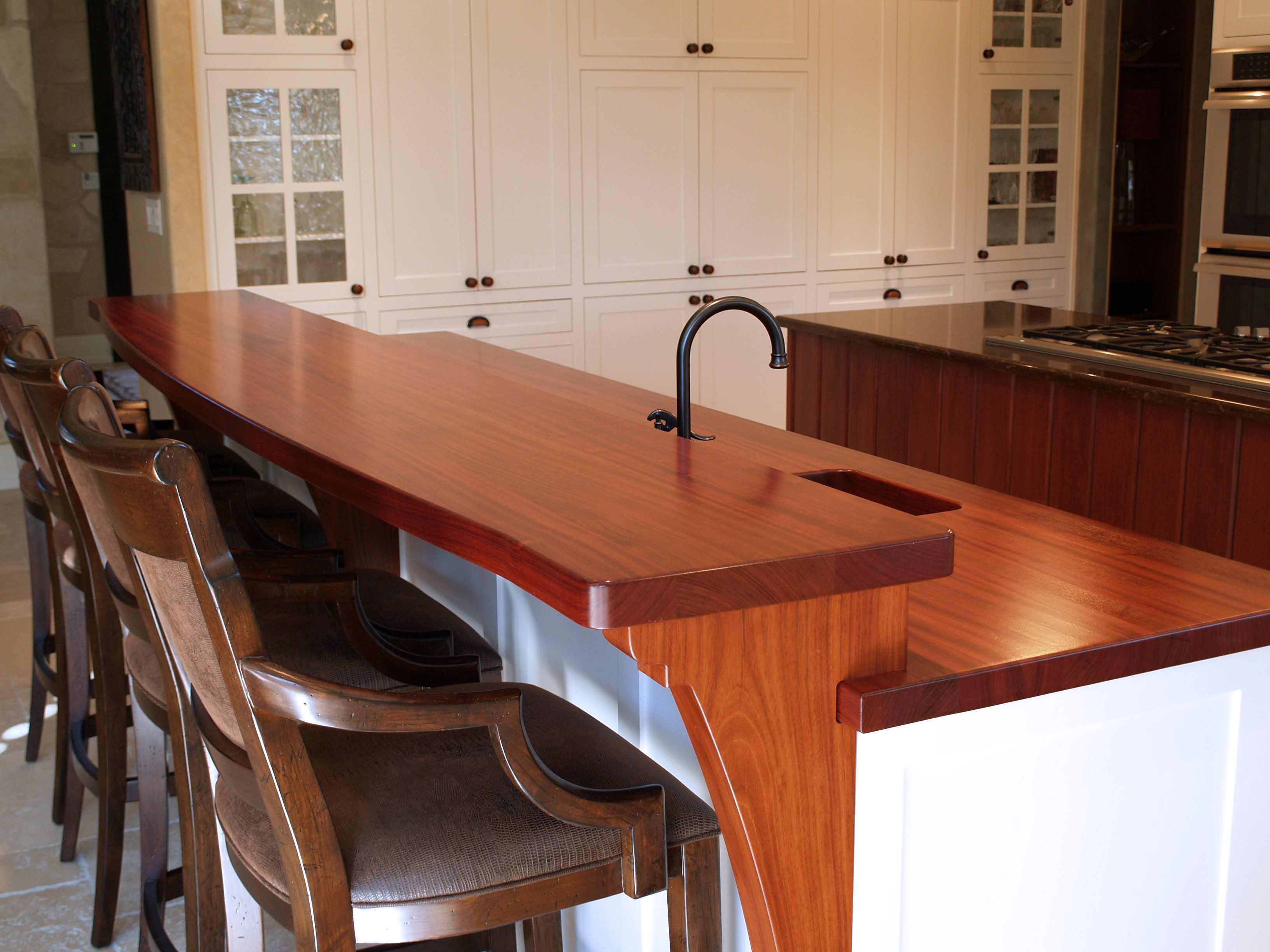 Jatoba Wood Countertop Gallery by DeVos Custom Woodworking