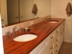 Jatoba Face Grain Vanity Countertop .