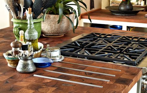 Custom Wood Countertop Options Inset Stainless Steel Trivets