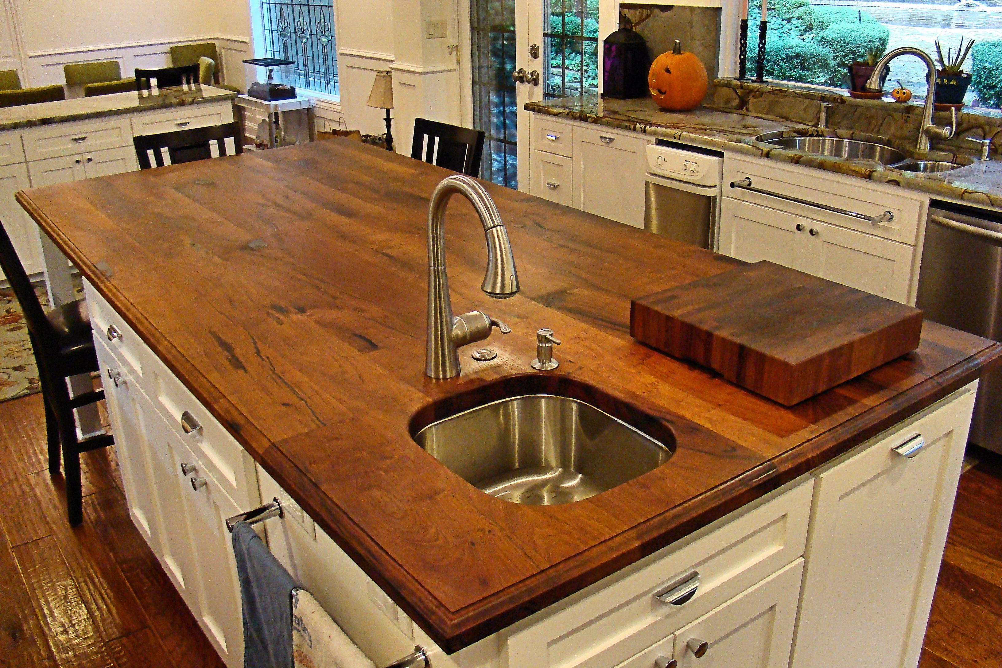 how to cut sink hole in oak worktop