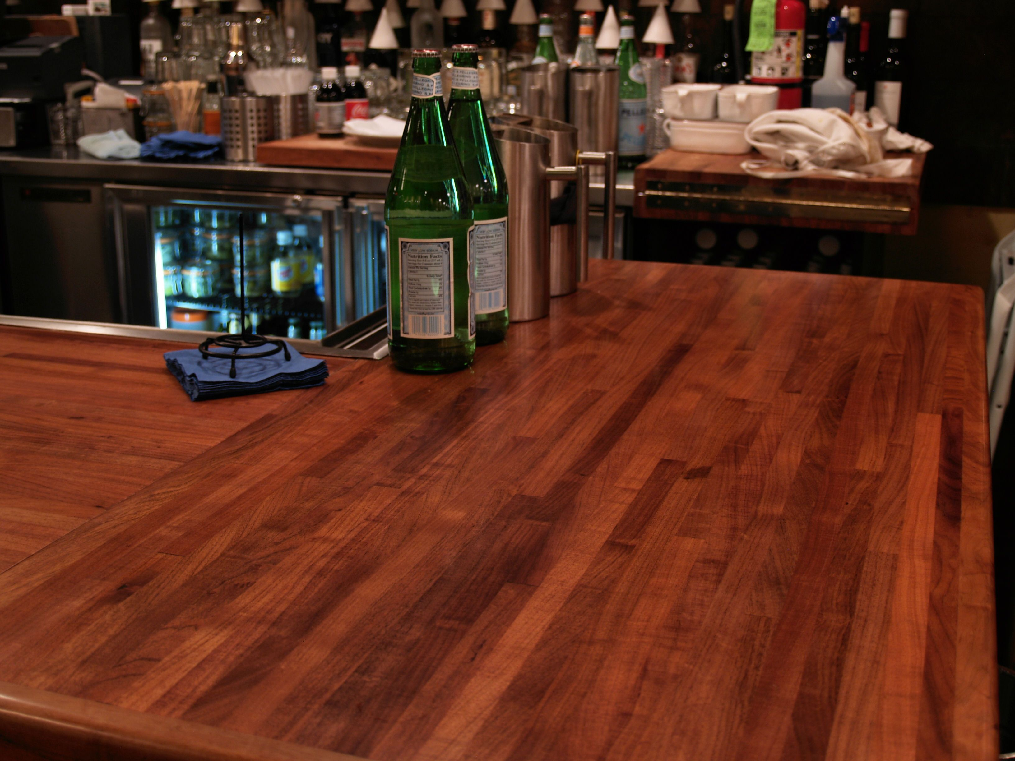 Custom wood countertop options joints for multi section tops for What to use for a bar top