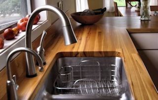 Sink Cutouts In Custom Wood Countertops