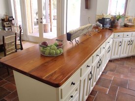 Photo Gallery of Reclaimed Longleaf Wood countertops