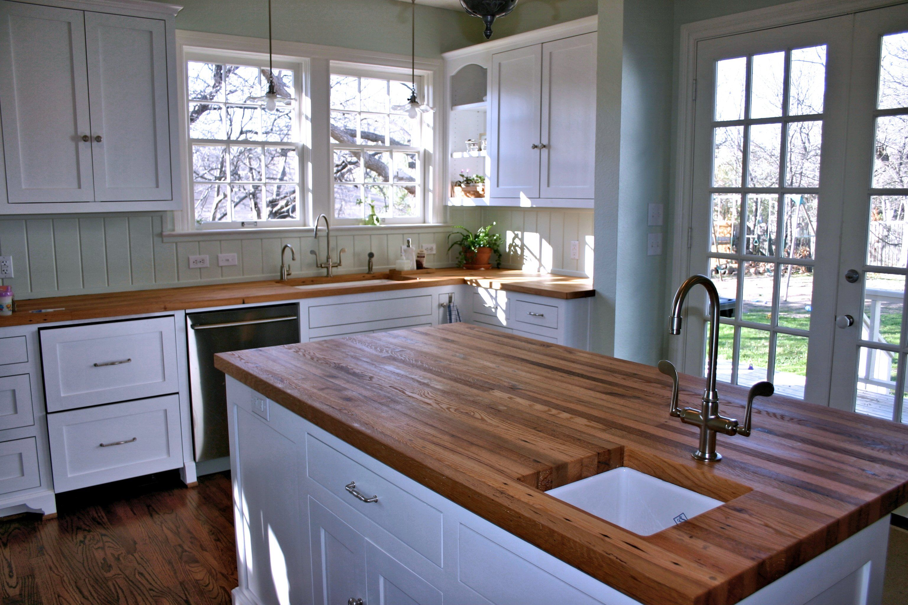 Reclaimed Wood Countertops reclaimed white oak wood countertop photo gallery,devos custom