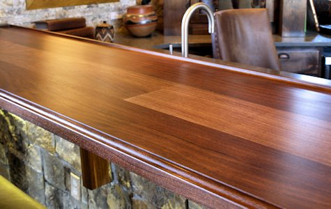 Ordinaire Tx Slab Walnut Bar Top ...