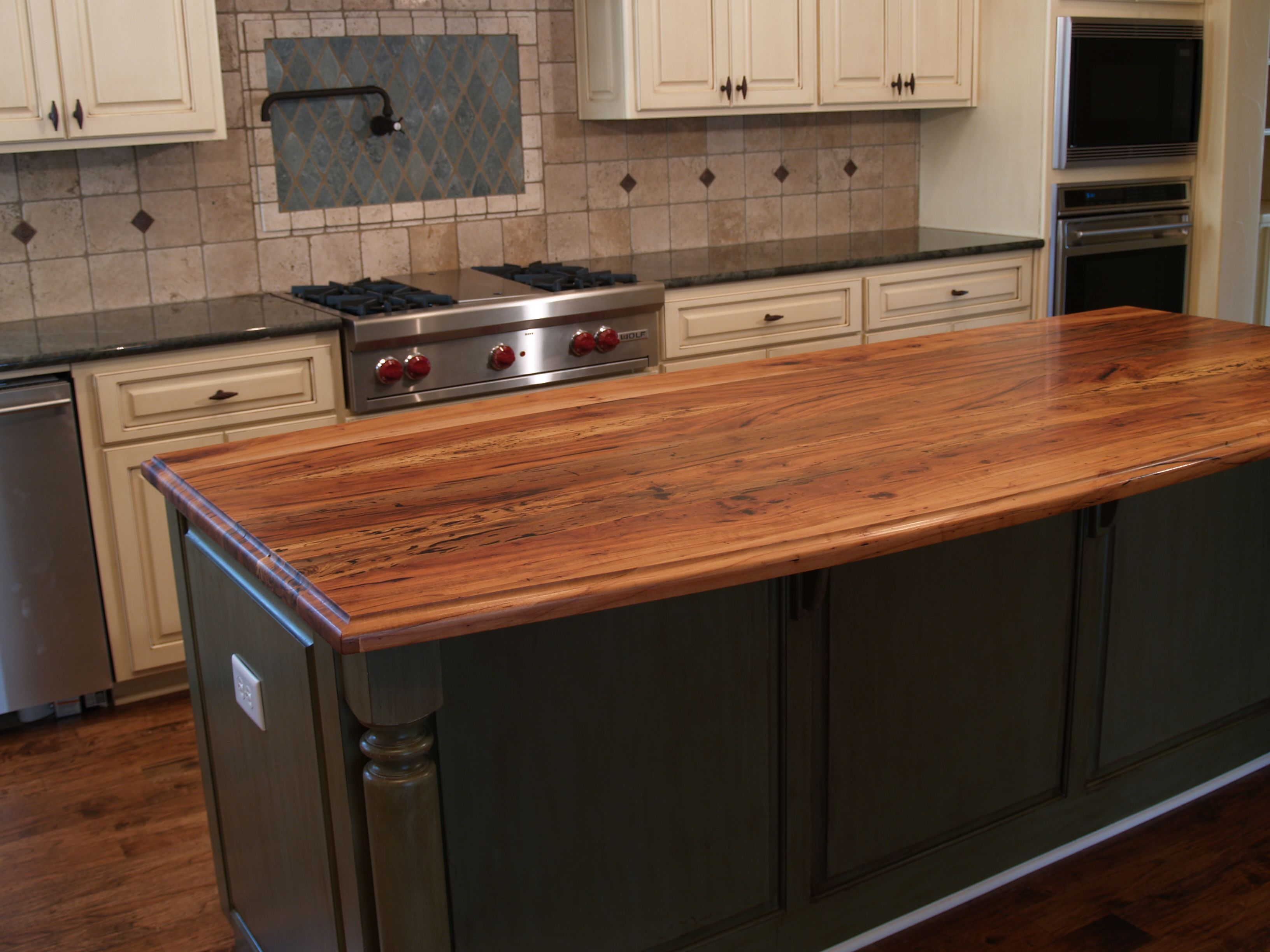 Best Wood For Butcher Block Countertops: Spalted Pecan Wood Countertop Photo Gallery, By DeVos
