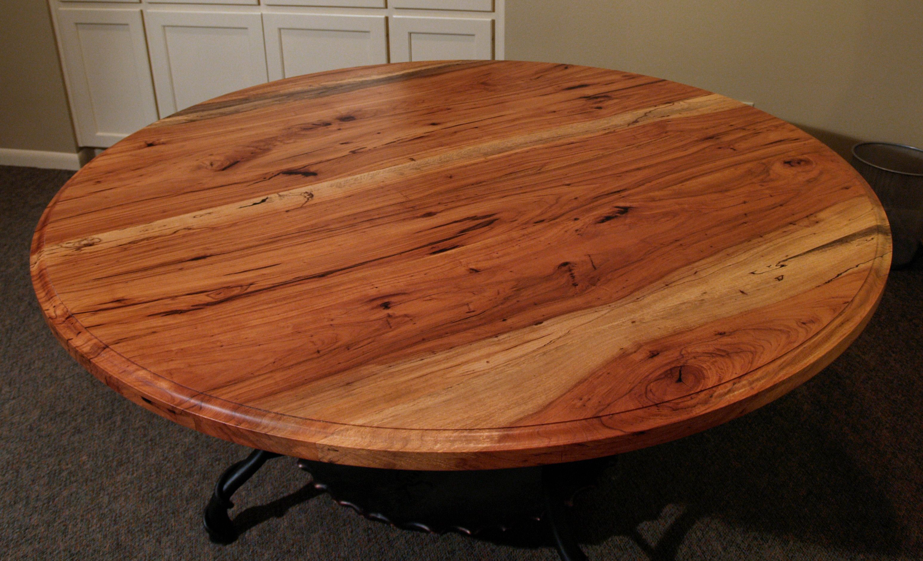 Spalted Pecan face grain custom wood table top. Spalted Pecan Wood Countertop Photo Gallery  by DeVos Custom