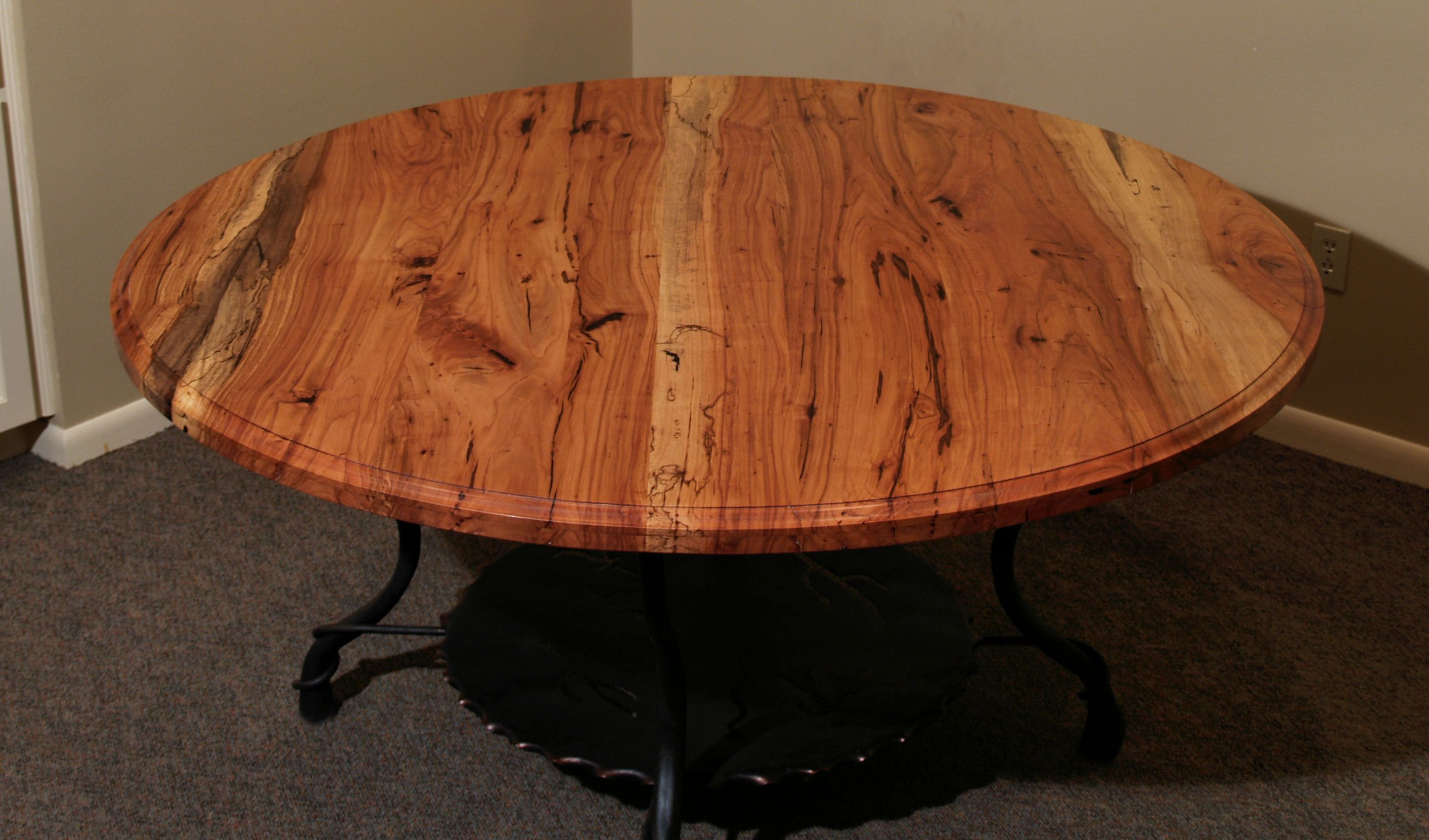 Spalted Pecan Face Grain Custom Wood Table Top