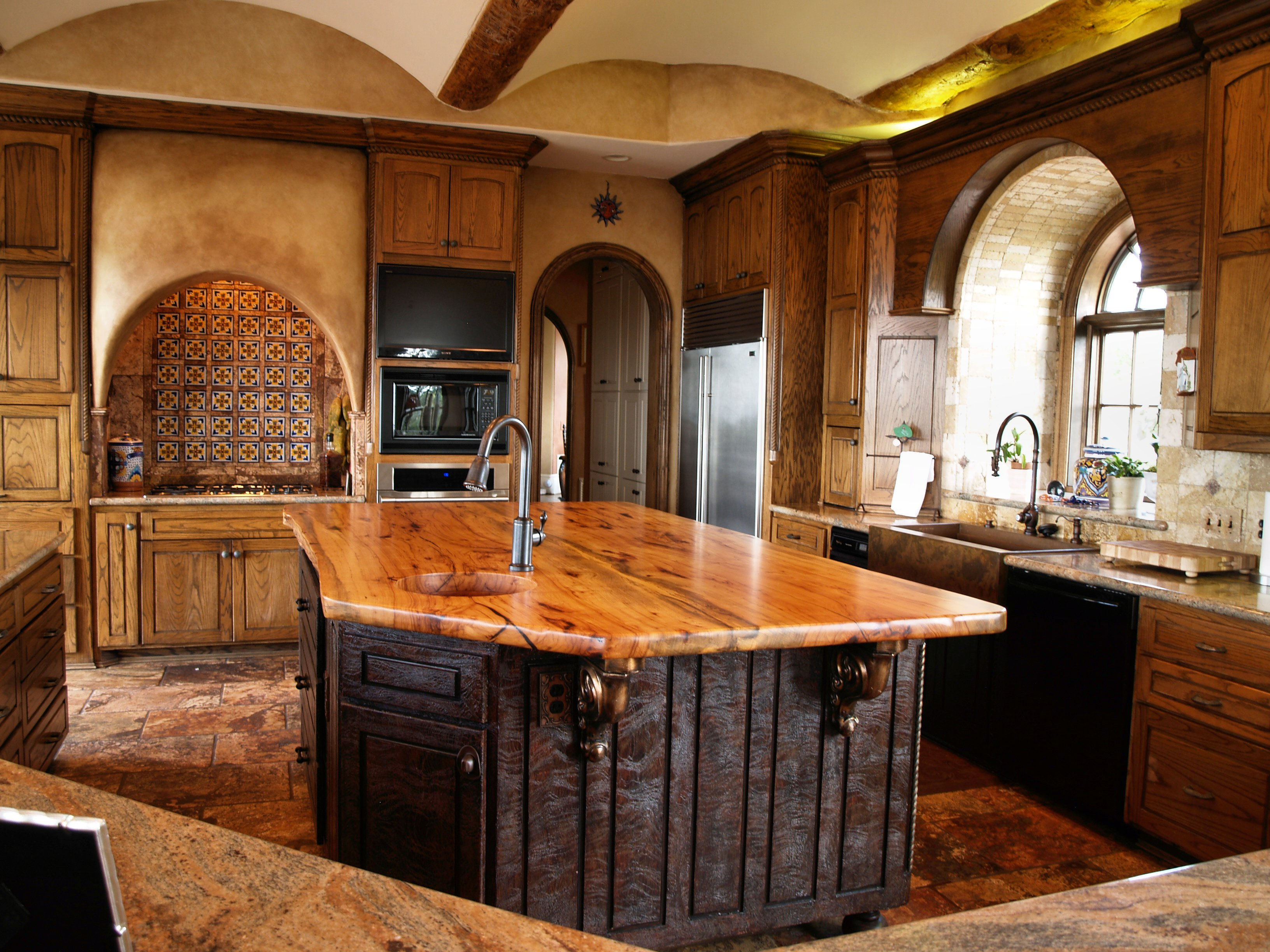 Spalted Pecan Wood Countertop Photo Gallery By Devos