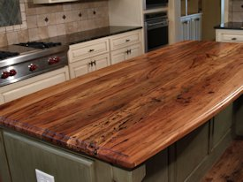 Photo Gallery of Spalted Pecan Wood countertops