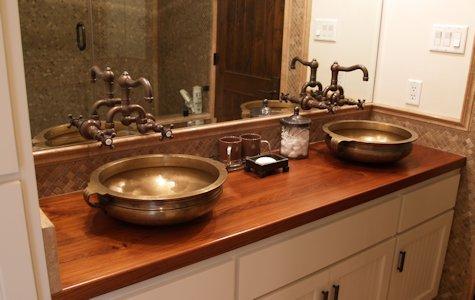 Wenge Wood Island Countertop Teak Wood Bathroom Vanity Countertop