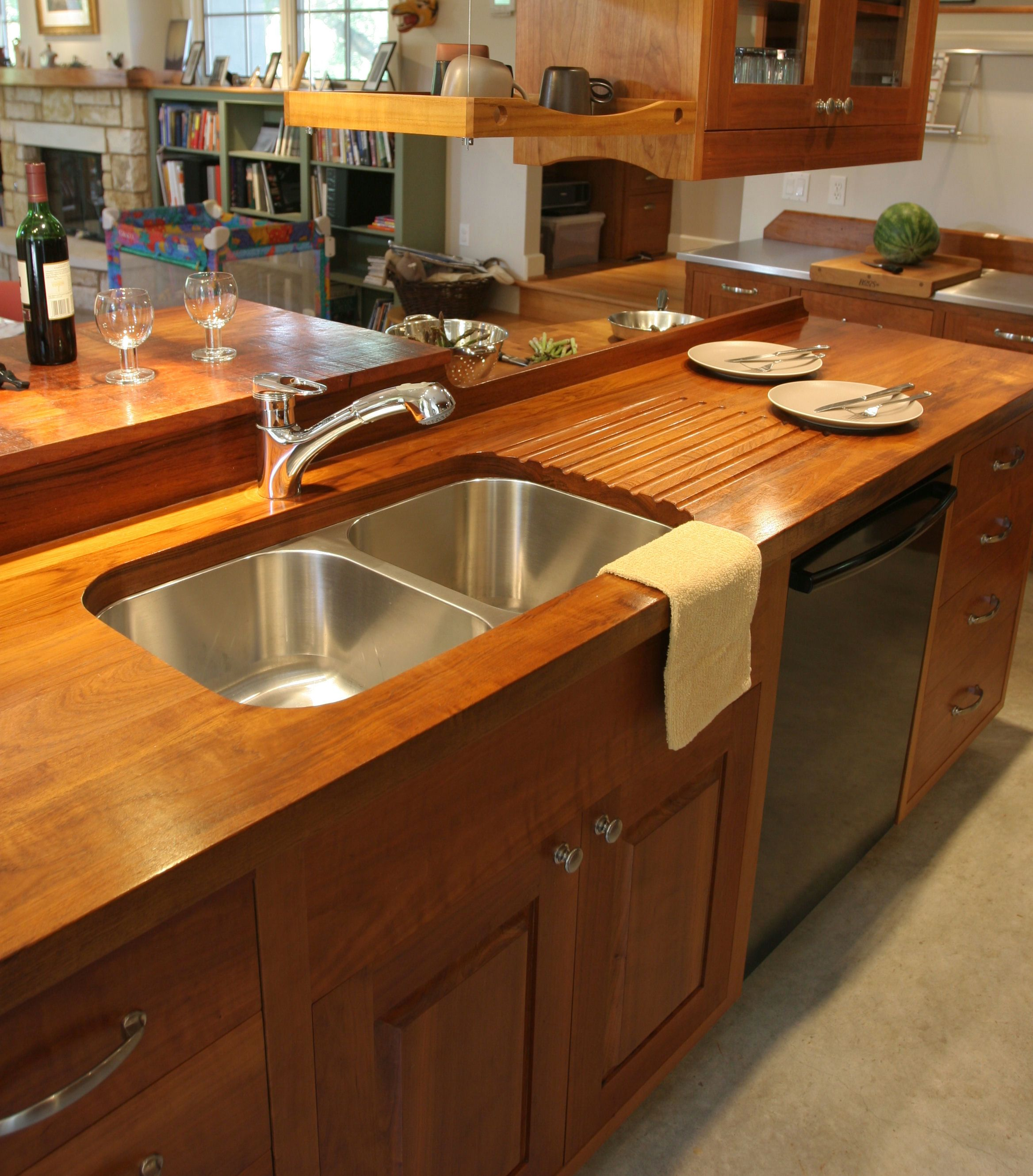 Best Wood For Butcher Block Counters: Teak Wood Countertop Photo Gallery, By DeVos Custom