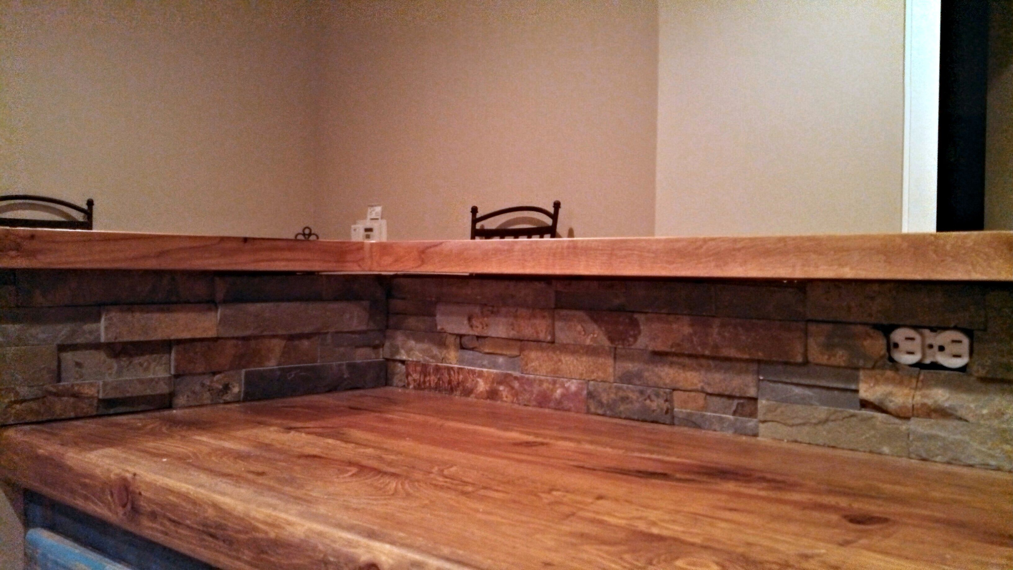 Tx Pecan Face Grain Custom Wood Countertop And Bar Top.