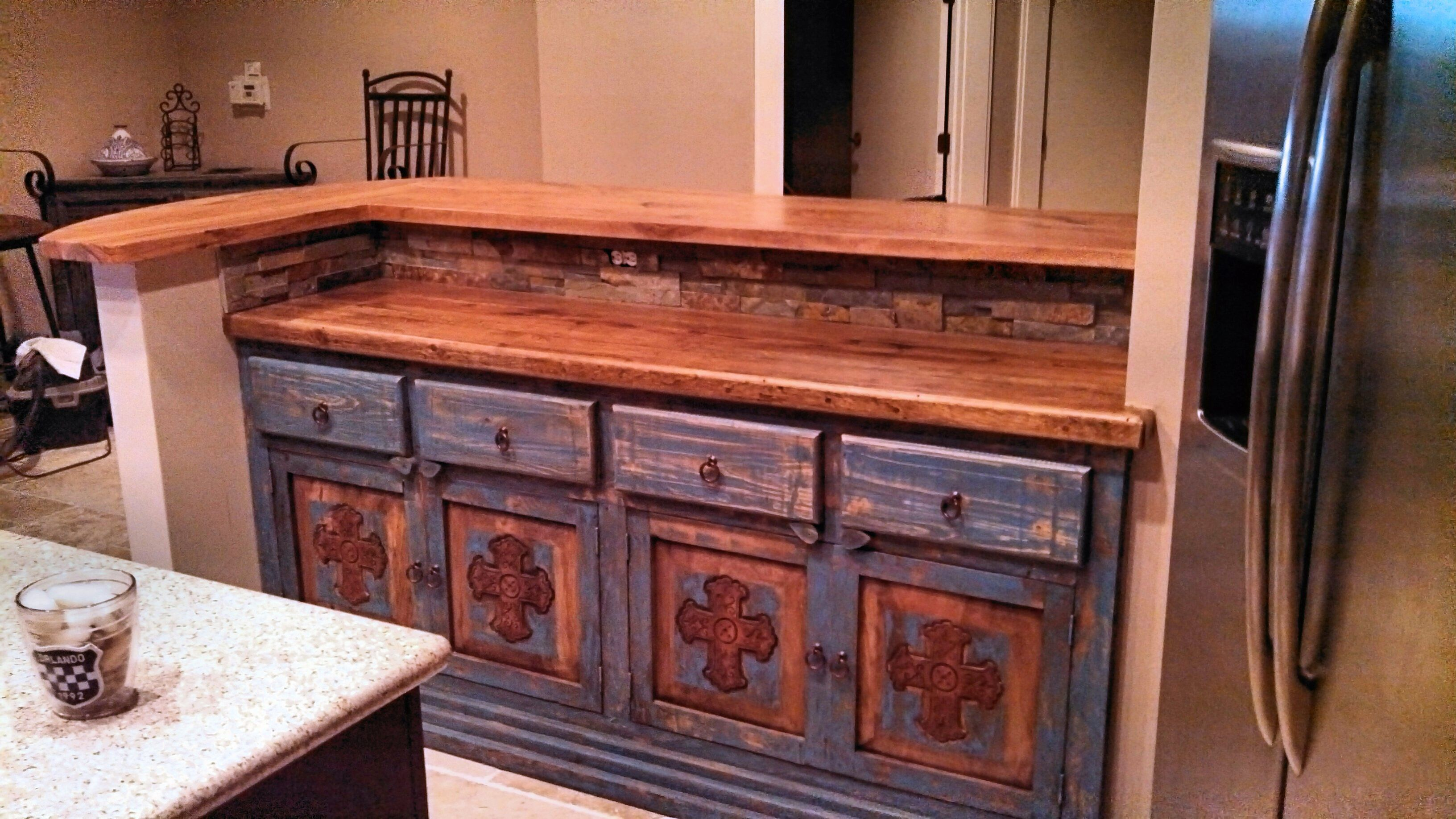Marvelous Tx Pecan Face Grain Custom Wood Countertop And Bar Top.
