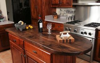 Tung Oil/Citrus Finish - Shown on a Face Grain Walnut Island top