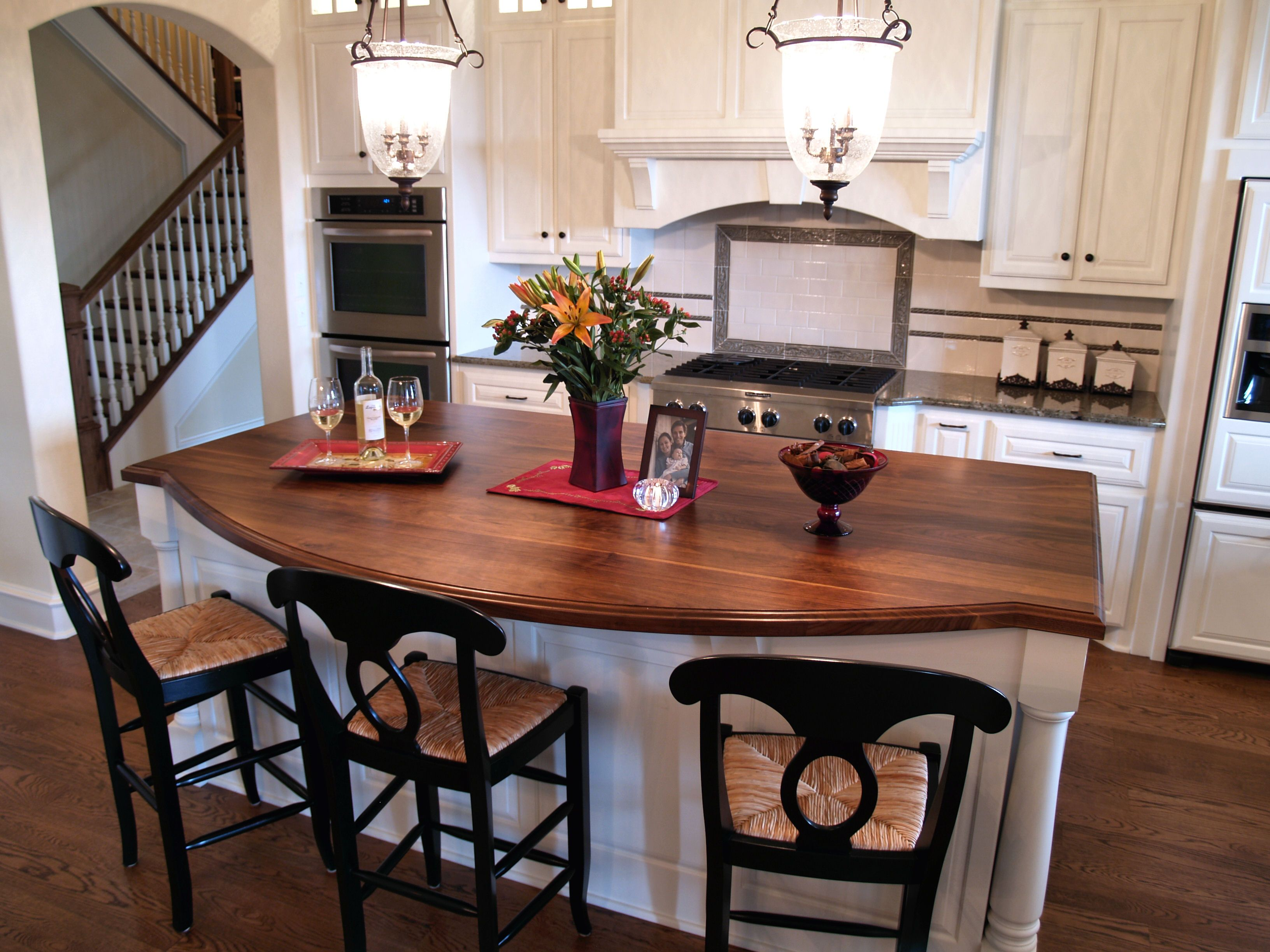 Butcher Block Tops For Kitchen Islands : Walnut Wood Countertop Photo Gallery, by DeVos Custom Woodworking