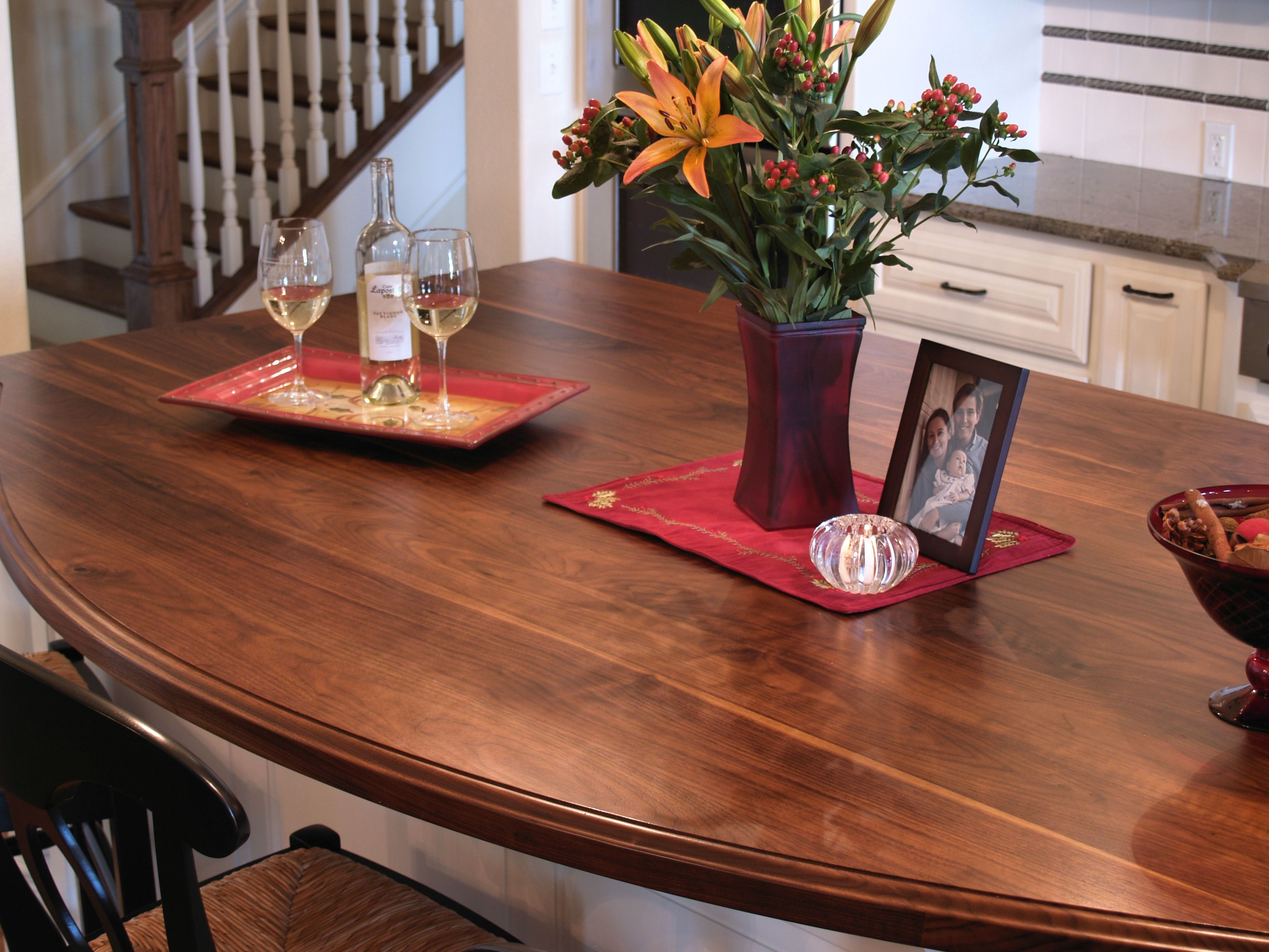 Wood Countertop Finish Options : Recommended as a permanent finish, not to be used as a cutting surface